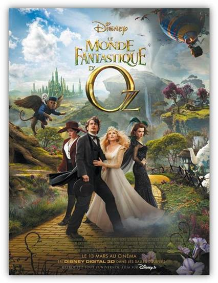 le monde fantastique d'oz affiche film