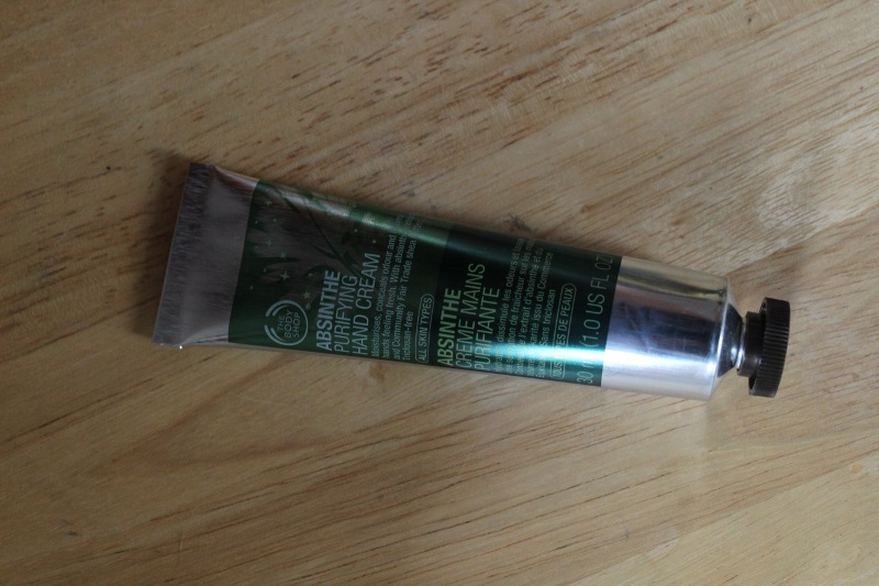 the body shop creme main absinthe
