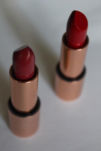 Kiko 03 Luscious Red et le 04 Mild Sangria