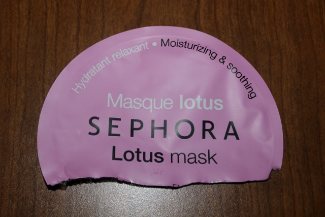 masque tissu sephora au lotus