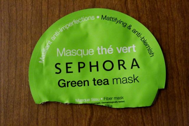 masque tissu sephora au the vert