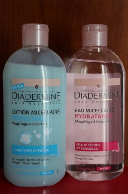 eau et lotion micellaire diadermine
