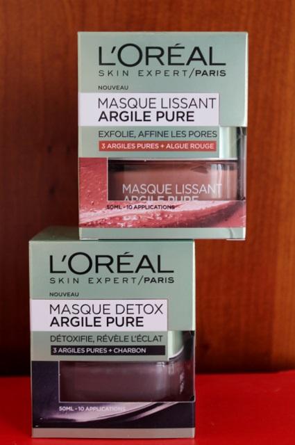 masques L'Oréal à l'argile