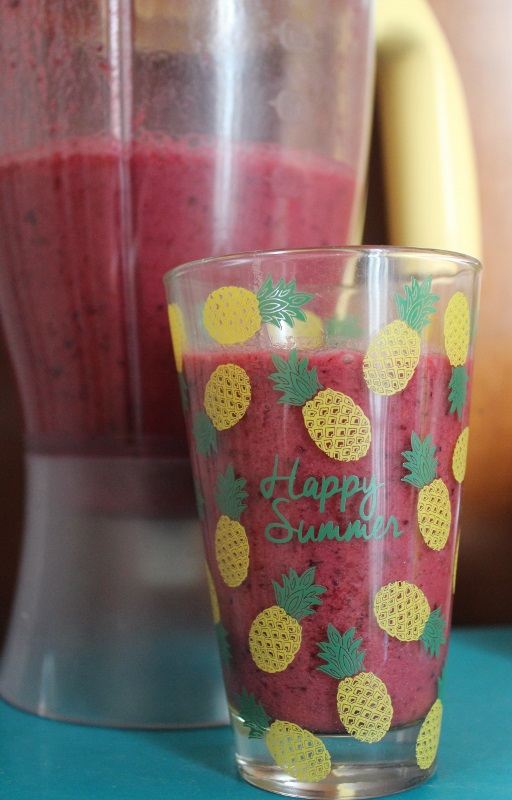 smoothie fruits rouges - ananas