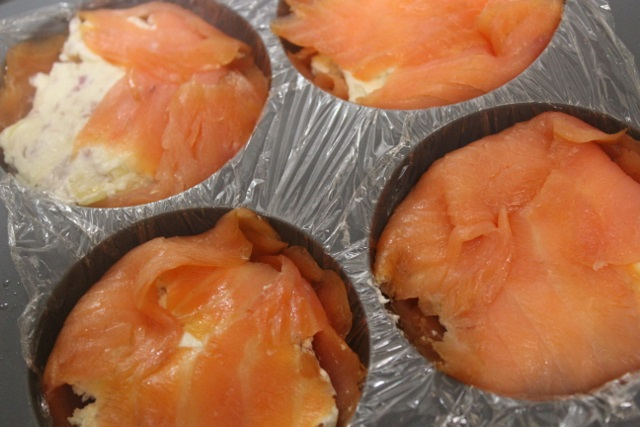 dômes de saumon au fromage frais
