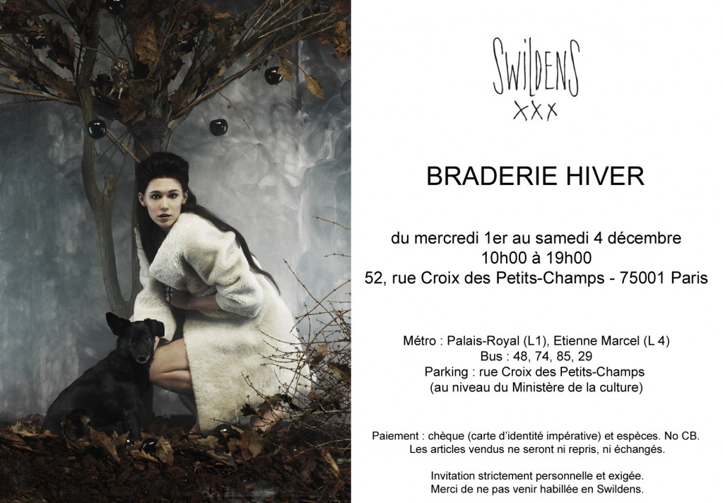 Invitation braderie Swildens