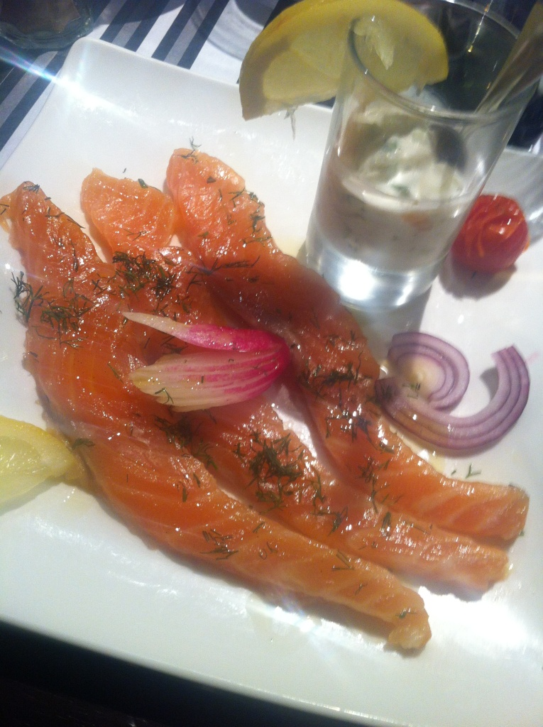 le brise miche - saumon gravelax