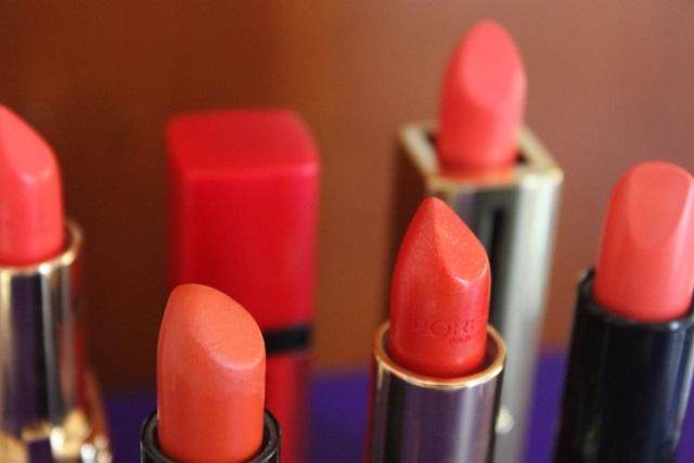 mes rouges à lèvres oranges (1)