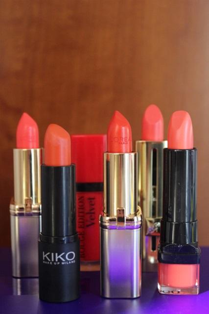 mes rouges à lèvres oranges (8)