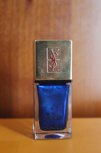 YSL laque couture bleu cyclades