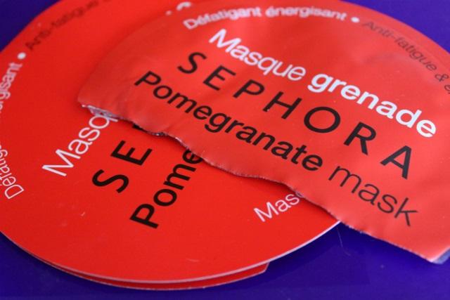 masque tissu sephora grenade