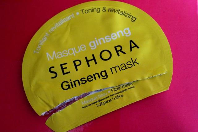 Masque en tissu au ginseng de Sephora