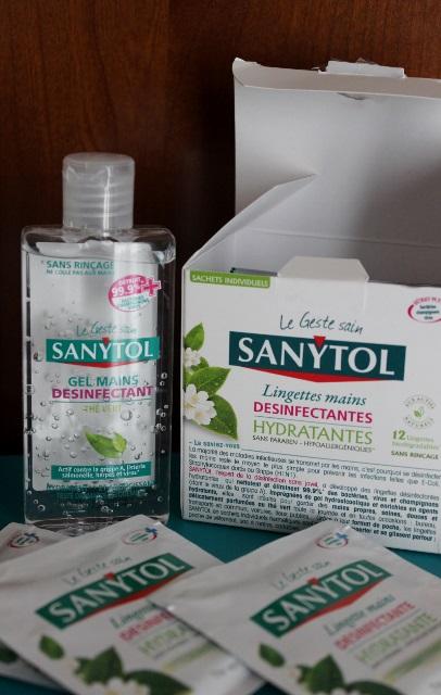 sanytol gel et lingettes mains