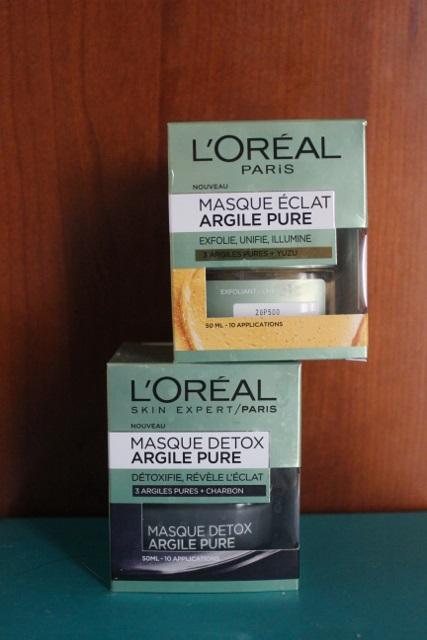 masques à l'argile de L'Oréal