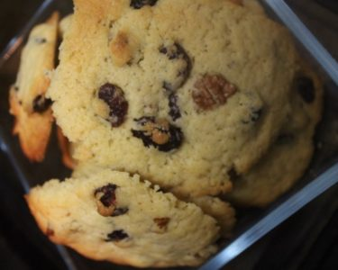 Cookies cranberries-noix de pecan